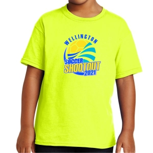 Wellington Shootout Youth T-Shirt - Neon Yellow WWSC-NY-5000B-SO