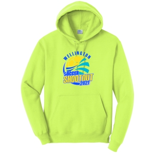 Wellington Shootout Hooded Spirit Sweatshirt - Neon Yellow WWSC-NY-PC78H-SO