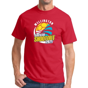 Wellington Shootout T-Shirt - Red WWSC-R-5000-SO