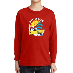 Wellington Shootout Youth Long Sleeve T-Shirt - Red WWSC-R-5400B-SO