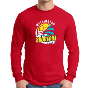 Wellington Shootout Long Sleeve T-Shirt - Red WWSC-R-G5400-SO