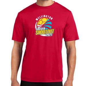 Wellington Shootout Performance Shirt - Red WWSC-R-ST350-SO