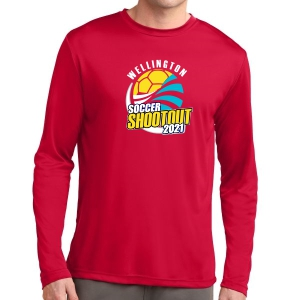 Wellington Shootout Long Sleeve Performance Shirt - Red WWSC-R-ST350LS-SO