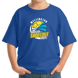 Wellington Shootout Youth T-Shirt - Blue WWSC-RB-5000B-SO