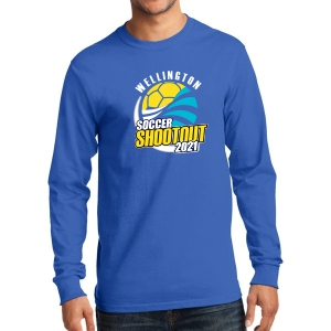 Wellington Shootout Long Sleeve T-Shirt - Blue WWSC-RB-G5400-SO