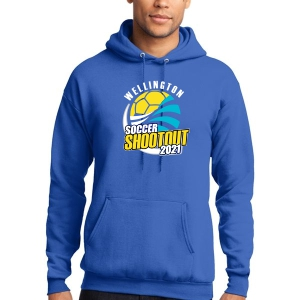 Wellington Shootout Hooded Spirit Sweatshirt - Blue WWSC-RB-PC78H-SO