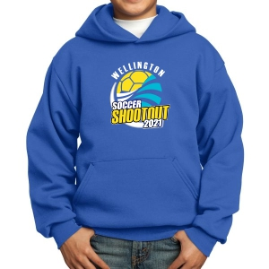 Wellington Shootout Youth Hooded Spirit Sweatshirt - Blue WWSC-RB-PC90YH-SO