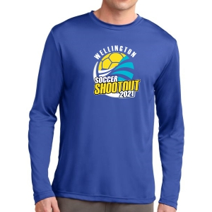 Wellington Shootout Long Sleeve Performance Shirt - Blue WWSC-RB-ST350LS-SO