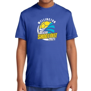Wellington Shootout Youth Performance Shirt - Blue WWSC-RB-YST350B-SO