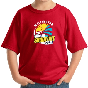 Wellington Shootout Youth T-Shirt - Red WWSC-RD-5000B-SO
