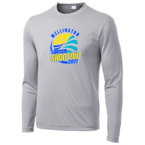 Wellington Shootout Long Sleeve Performance Shirt - Silver WWSC-S-ST350LS-SO