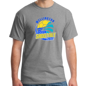 Wellington Shootout T-Shirt - Sports Grey WWSC-SG-5000-SO