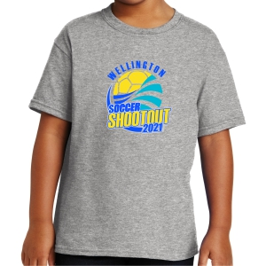 Wellington Shootout Youth T-Shirt - Sport Grey WWSC-SG-5000B-SO
