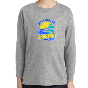 Wellington Shootout Youth Long Sleeve T-Shirt - Sport Grey WWSC-SG-5400B-SO