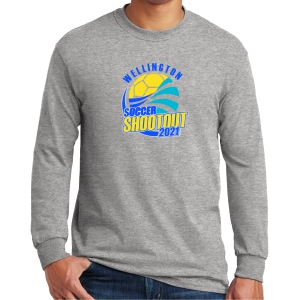 Wellington Shootout Long Sleeve T-Shirt - Sport Grey WWSC-SG-G5400-SO