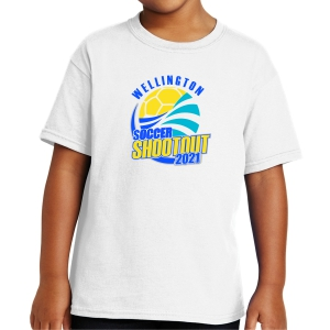 Wellington Shootout Youth T-Shirt - White WWSC-W-5000B-SO