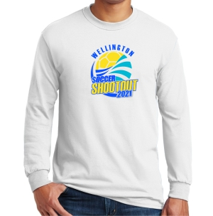Wellington Shootout Long Sleeve T-Shirt - White WWSC-W-G5400-SO