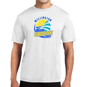 Wellington Shootout Performance Shirt - White WWSC-W-ST350-SO