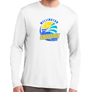 Wellington Shootout Long Sleeve Performance Shirt - White WWSC-W-ST350LS-SO