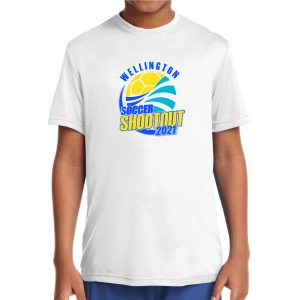 Wellington Shootout Youth Performance Shirt - White WWSC-W-YST350B-SO