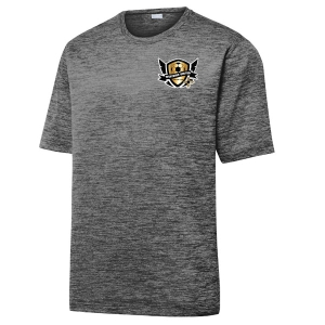 West Side United Heather Performance Shirt - Grey/Black/Electric ST390-WSU