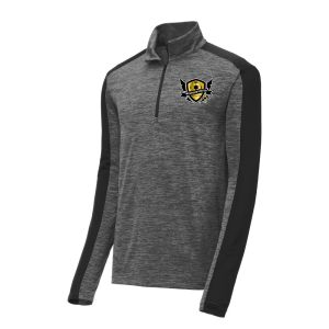 West Side United 1/4 Zip Pullover Top - Dark Grey ST397-WSU