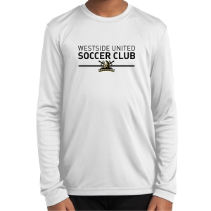 Warriors Youth Long Sleeve Performance Shirt - White WSC-YST350LSW