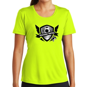 West Side United SC Women's Training Shirt - Neon Yellow WSU-LST350-NY