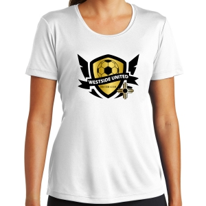 West Side United SC Women's Training Shirt - White WSU-LST350-Whi