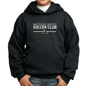 Warriors Youth Hooded Sweatshirt - Black WSU-PC90YHB
